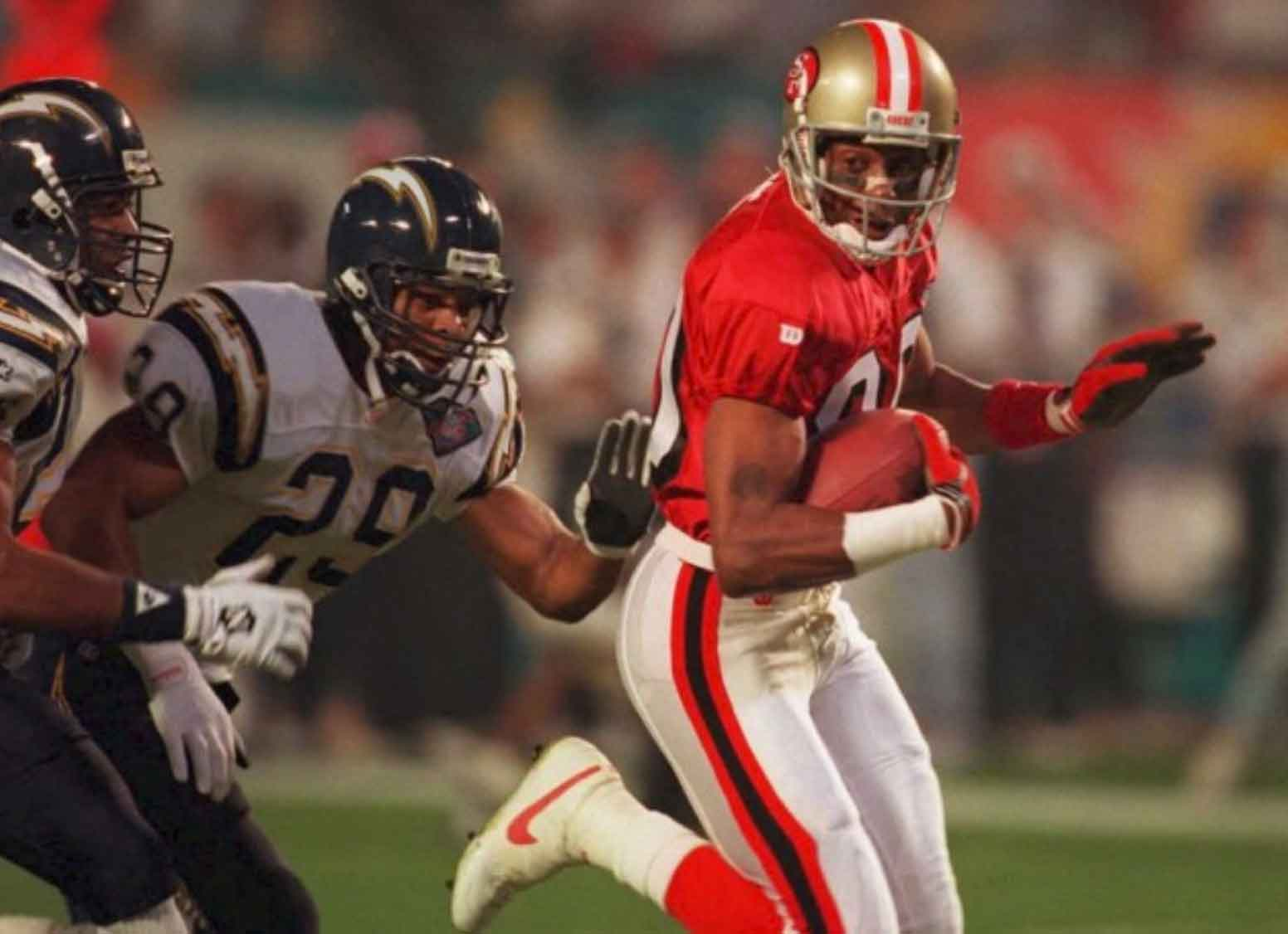 Jerry Rice, wide receiver: giocatori football americano
